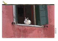 Venetian Cat In Window Carry-all Pouch