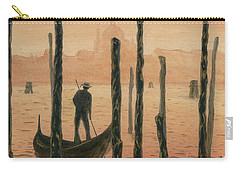 Venetian Gondolier In The Sunset Carry-all Pouch