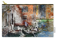 Venetian Gondolier In Venice Italy Carry-all Pouch