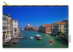 Carry-all Pouch featuring the photograph Venetian Highway by Anne Kotan