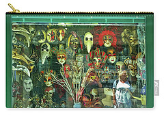 Carry-all Pouch featuring the photograph Venetian Masks by Anne Kotan