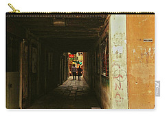 Carry-all Pouch featuring the photograph Venetian Passage by Anne Kotan