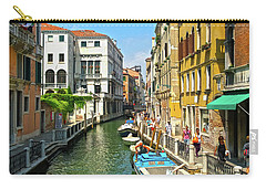 Carry-all Pouch featuring the photograph Venetian Sunshine by Anne Kotan