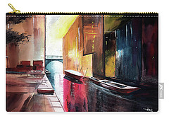 Carry-all Pouch featuring the painting Venice 1 by Anil Nene
