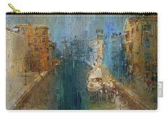 Venice Blue And Yellow Carry-all Pouch
