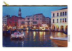 Carry-all Pouch featuring the photograph Venice By Night by Anne Kotan
