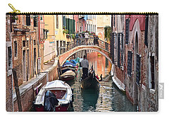 Venice Gondolier Carry-all Pouch by Frozen in Time Fine Art Photography
