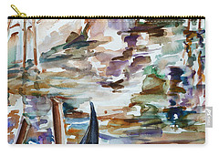 Carry-all Pouch featuring the painting Venice Impression I by Xueling Zou