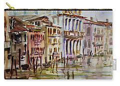 Carry-all Pouch featuring the painting Venice Impression II by Xueling Zou