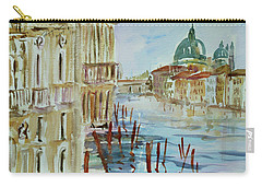 Carry-all Pouch featuring the painting Venice Impression IIi by Xueling Zou
