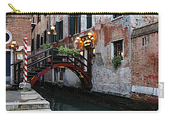 Venice Italy - The Cheerful Christmassy Restaurant Entrance Bridge Carry-all Pouch
