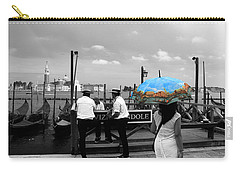 Carry-all Pouch featuring the photograph Venice Umbrella by Andrew Fare