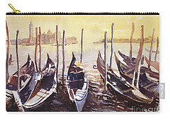 Carry-all Pouch featuring the painting Venice Watercolor- Italy by Ryan Fox