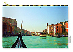 Carry-all Pouch featuring the photograph Venice Waterway by Roberta Byram