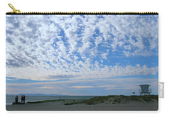 Ventura Beach With Blue Sky And  Puffy Clouds Carry-all Pouch