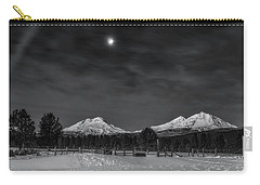 Carry-all Pouch featuring the photograph Venus Over Three Sisters by Cat Connor