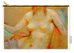 Carry-all Pouch featuring the pastel Venus Pastel Lucien Levy Dhurmer 1915 by Peter Gumaer Ogden