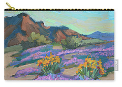 Carry-all Pouch featuring the painting Verbena And Spring by Diane McClary