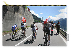Carry-all Pouch featuring the photograph Verbier - Tour De France 2009 by Travel Pics
