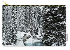 Verdant Creek - Winter 1 Carry-all Pouch by Stuart Turnbull
