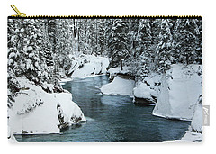 Verdant Creek - Winter 6 Carry-all Pouch by Stuart Turnbull