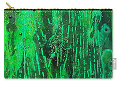 Verde Abstract Carry-all Pouch by Carolyn Repka