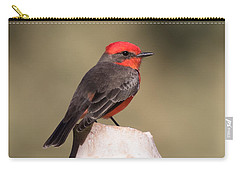 Vermilion Flycatcher In Northern California Carry-all Pouch