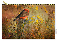 Vermilion Flycatcher At St. Marks Carry-all Pouch