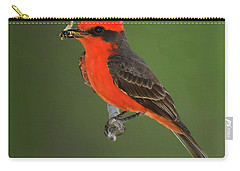 Vermillion Flycatcher With Bee Carry-all Pouch