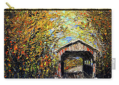 Carry-all Pouch featuring the painting Vermont by Alan Lakin