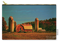 Carry-all Pouch featuring the photograph Vermont Autumn Barn by Deborah Benoit