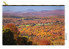 Carry-all Pouch featuring the photograph Vermont Autumn Vista by Alan L Graham