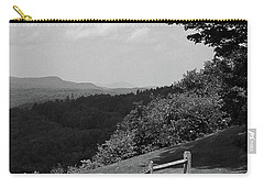 Carry-all Pouch featuring the photograph Vermont Countryside 2006 Bw by Frank Romeo