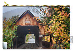 Vermont Fall Colors Over The Middle Bridge Carry-all Pouch