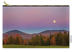 Vermont Fall, Full Moon And Belt Of Venus Carry-all Pouch