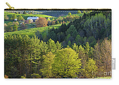 Carry-all Pouch featuring the photograph Vermont Spring Countryside by Alan L Graham