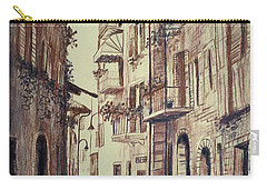 Verona Drawing Of A Narrow Street Carry-all Pouch