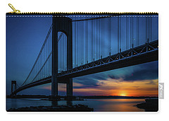 Carry-all Pouch featuring the photograph Verrazano Sunset by Chris Lord