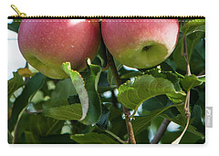 Vertical Twin Apples Carry-all Pouch