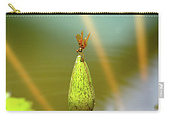 Very Small Dragonfly In Vertical Position Carry-all Pouch