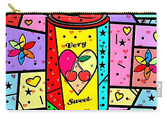 Carry-all Pouch featuring the digital art Very Sweet Popart By Nico Bielow by Nico Bielow