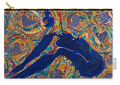 Carry-all Pouch featuring the tapestry - textile Vesica  Pisces by Apanaki Temitayo M