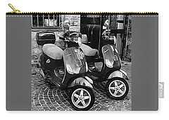 Vespa Twins Black And White Carry-all Pouch