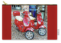 Vespa Twins Red Carry-all Pouch