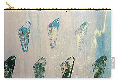 Carry-all Pouch featuring the painting Vestige by Robin Maria Pedrero