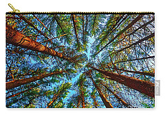 Carry-all Pouch featuring the photograph  Veterans Acres Park Pine Grove by Tom Jelen