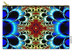 Vibrancy Fractal Cell Phone Case Carry-all Pouch by Lea Wiggins