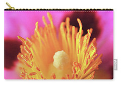 Vibrant Cistus Heart. Carry-all Pouch by Terence Davis