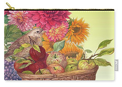 Vibrant Fall Florals And Harvest Carry-all Pouch