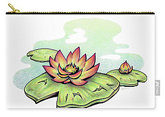 Vibrant Flower 2 Water Lily Carry-all Pouch